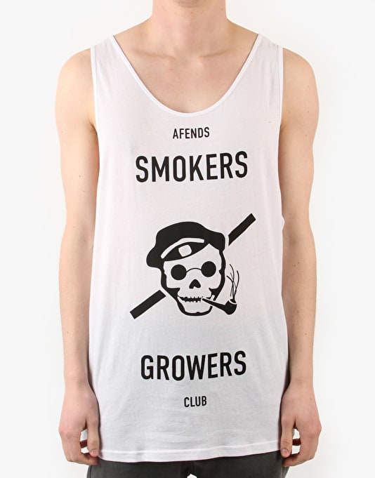 Afends Smokers and Growers Tank - White