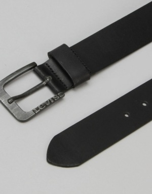 Levis Lockwood Leather Belt - Regular Black