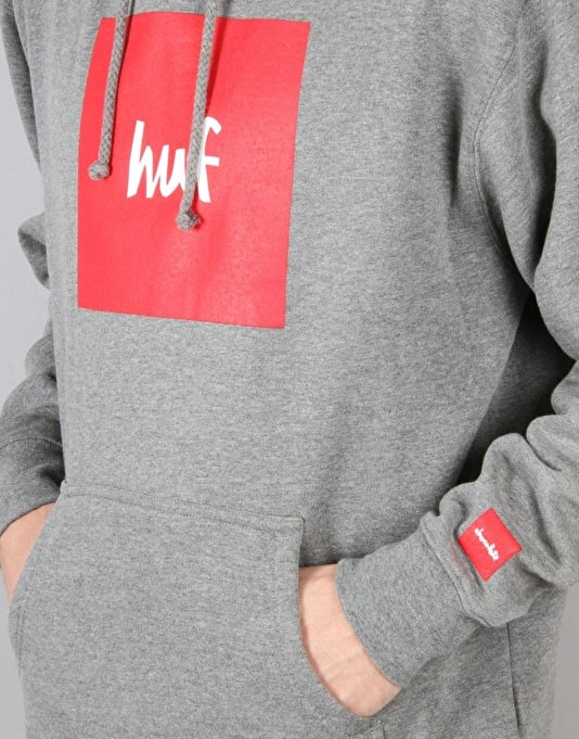 HUF x Chocolate Box Logo Pullover Hoodie - Grey Heather