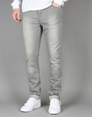Route One Skinny Denim Jeans - Washed Grey