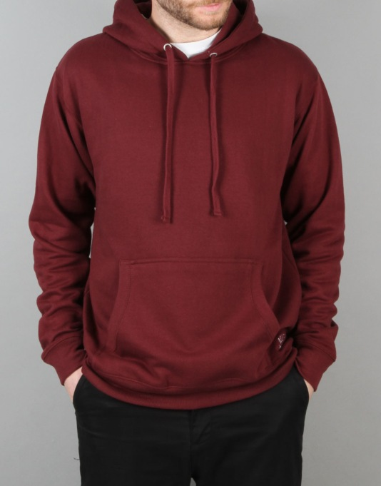 Route One Basic Pullover Hoodie - Burgundy