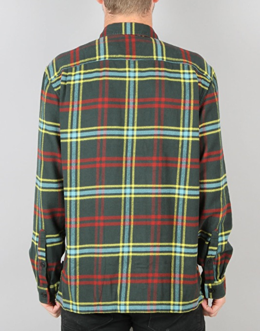 Patagonia LS Fjord Flannel - Windrow Carbon