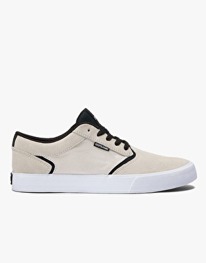 Supra Lizard King Shredder Skate Shoes - Off White/Black/White
