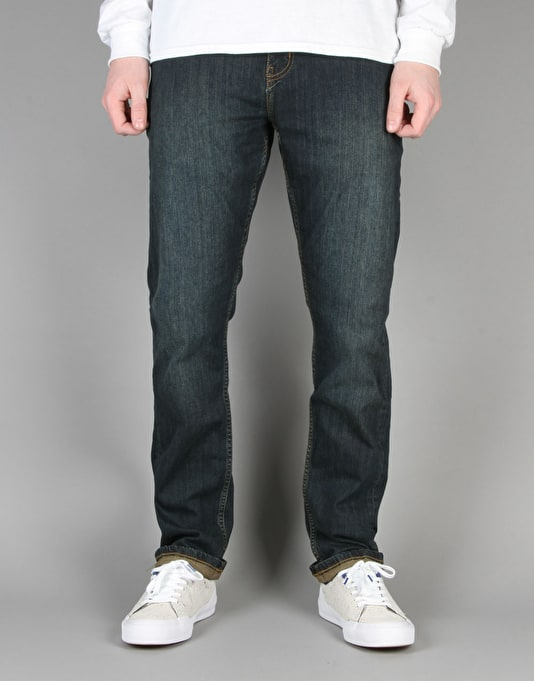 Route One Slim Denim Jeans - Washed Indigo