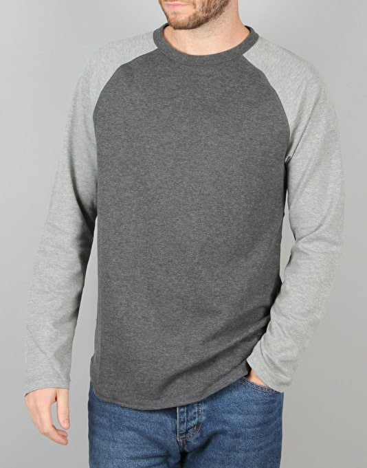 DC Luckenwald L/S T-Shirt - Heather Charcoal