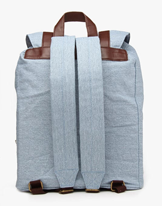Route One Canvas Backpack - Denim