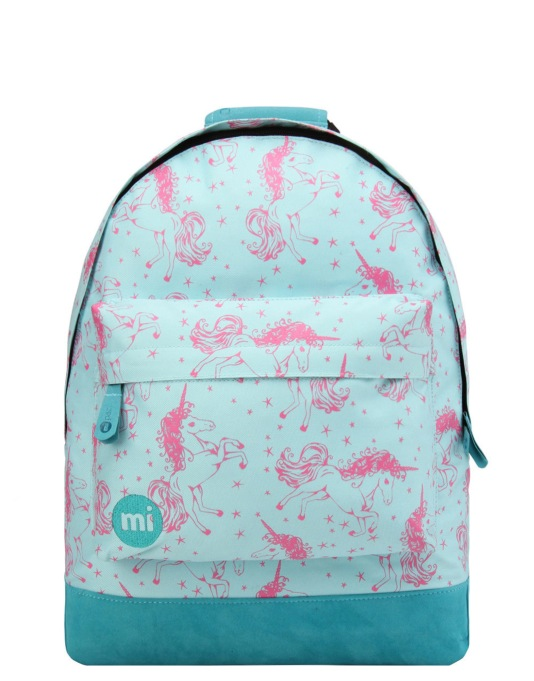 Mi-Pac Unicorns Backpack - Aqua/Pink