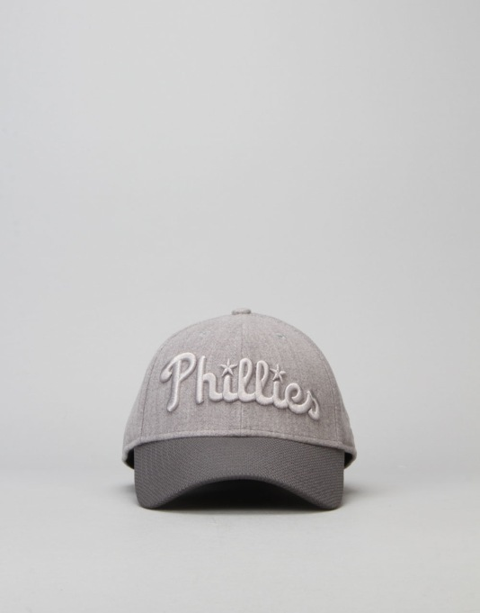 New Era 39Thirty MLB Philladelphia Phillies Stretch Melton Cap - Grey