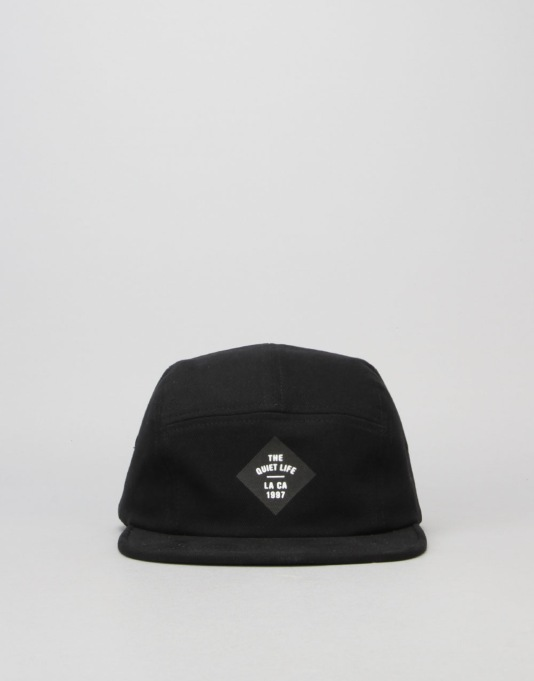 The Quiet Life Traveler 5 Panel Cap - Black