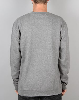 The Quiet Life Cursive Crew Sweatshirt - Gunmetal Grey