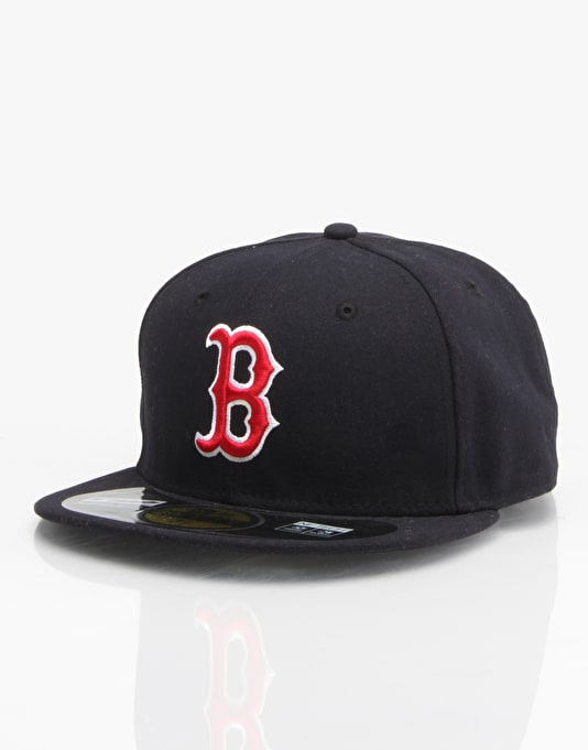 New Era 59Fifty MLB Boston Red Sox Fitted Cap - Navy/Red/White