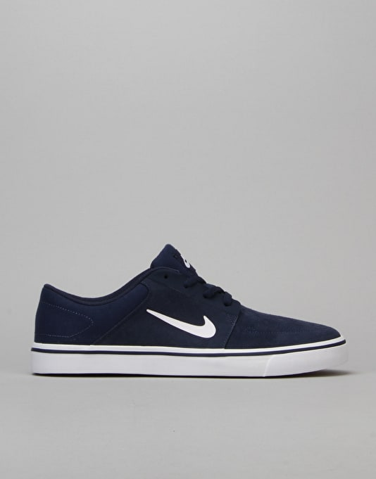 Nike SB Portmore Skate Shoes - Mid Navy/White-Gum-Light Brown