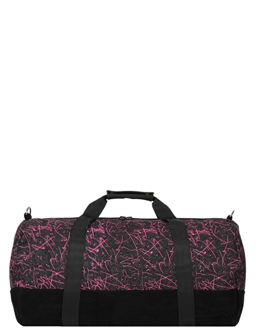 Mi-Pac Denim Squiggle Duffel Bag - Black/Pink