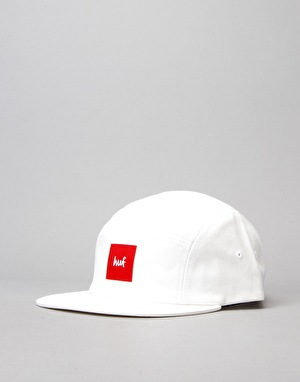 HUF x Chocolate Volley 5 Panel Cap - White