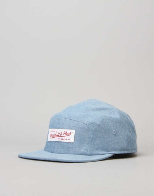 Mitchell & Ness 5 Panel Cap - Blue/White