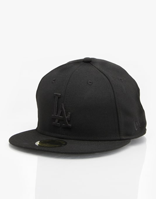 LA Dodgers New Era Fitted Cap - Black