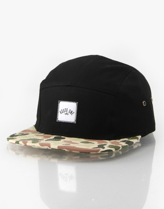 Route One Duck Camo 5 Panel Cap