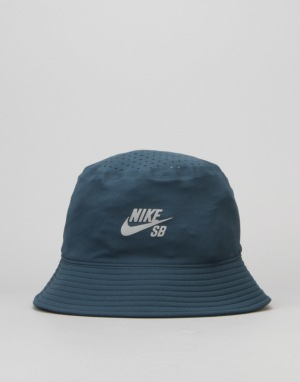 Nike SB Performance Bucket Hat - Midnight Teal/Black/Relflective Silv