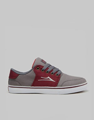 Lakai Carlo Boys Skate Shoes - Castlerock/Port Suede