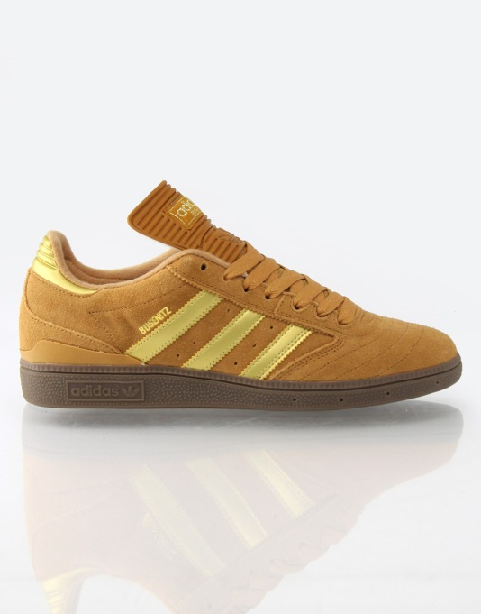 Adidas Busenitz Skate Shoes - Brown/Gold