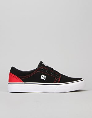 DC Trase TX Boys Skate Shoe - Black/Red
