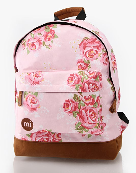 Mi-Pac Floral Backpack - Pink Rose