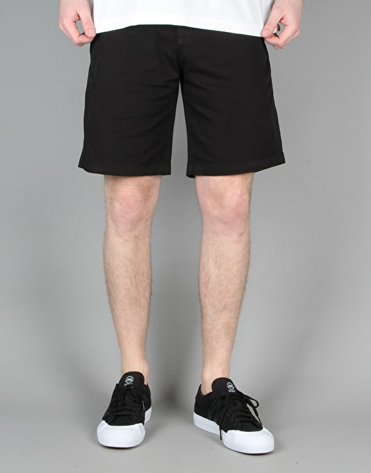 Route One Chino Shorts - Black