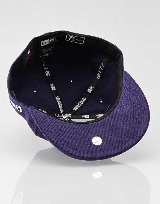 New Era MLB NY Yankees Basic Fitted Cap - Purple/White