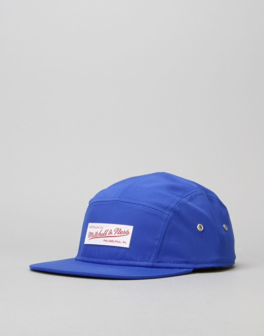 Mitchell & Ness Nylon 5 Panel Cap - Royal/White