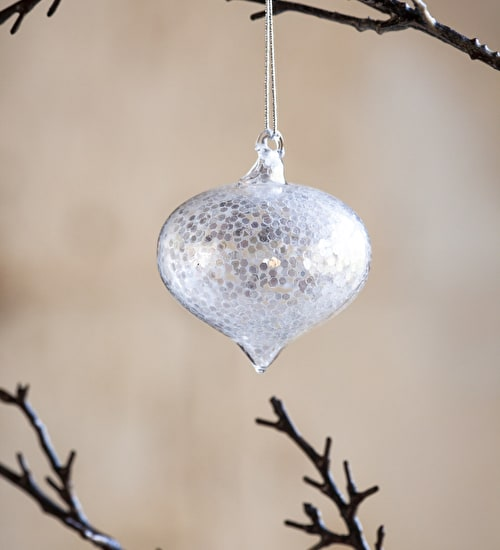 Silvered Sequin Sultan Bauble