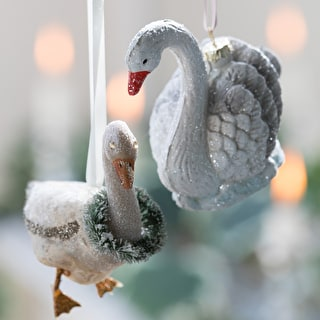 Glass Goose Decoration