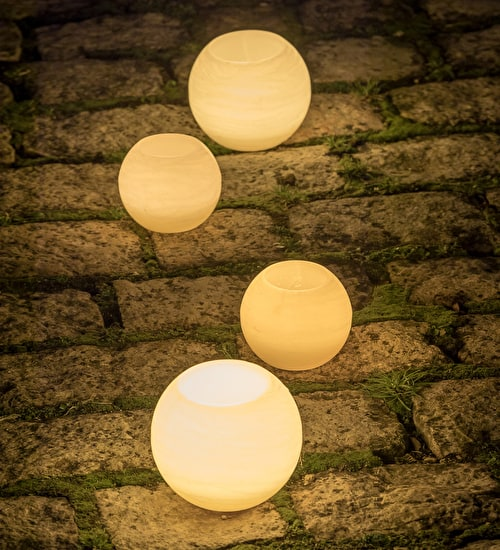 Wax Battery Candle Globe