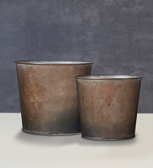 Rustic Metal Pot