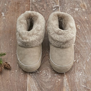 Sheepskin Cuff Slippers