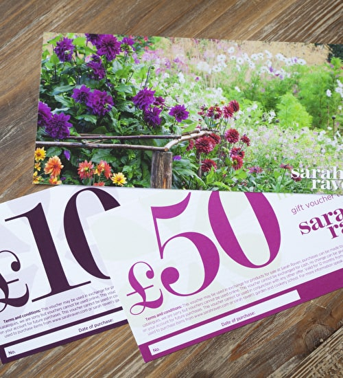 Sarah Raven Printed Gift Vouchers
