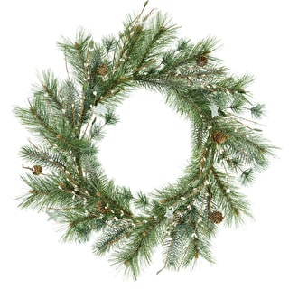 Snowberry Wreath with Stars