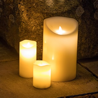 Battery Pillar Candle Set