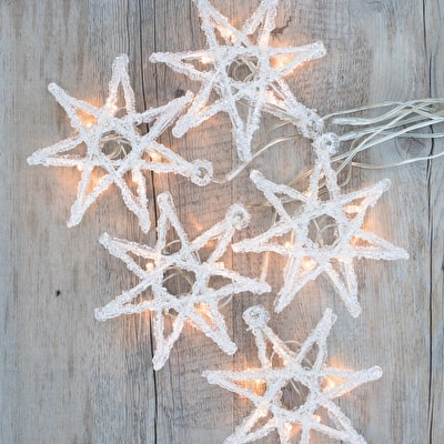 Large Frosted Star Lights
