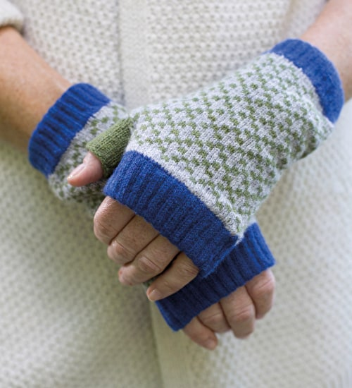 Lambswool Fingerless Mittens