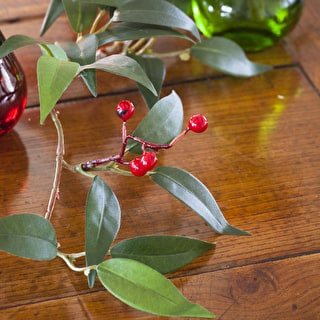 Evergreen and Berry Garland