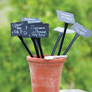 Black Plant Labels and Pen