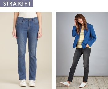 Shop women's straight trousers and jeans
