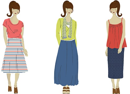 Seasalt skirts fit guide illustration