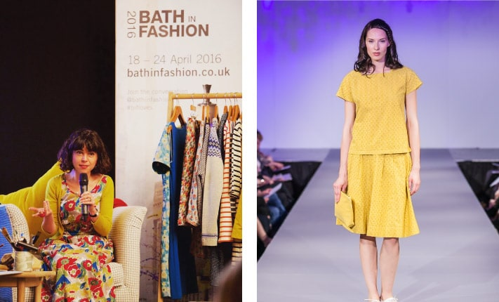 Pictures of Sophie Chadwick and the Seasalt collection at Bath in Fashion