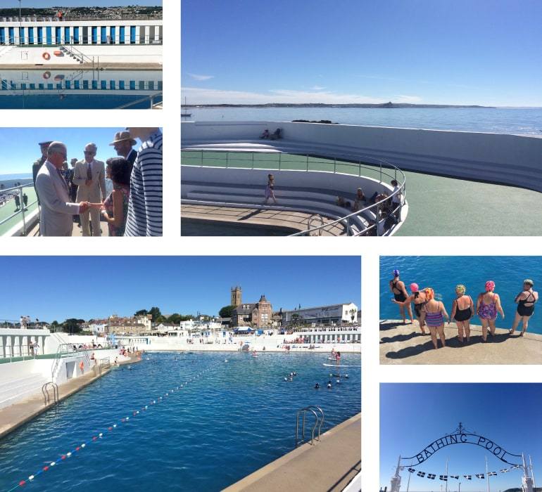 The newly reopened Penzance Jubilee Pool Lido, Cornwall