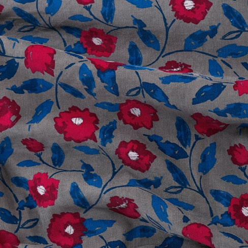 Seasalt Printed Needlecord Fabric