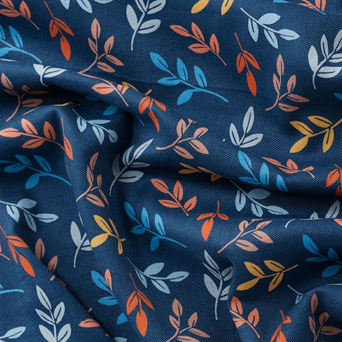Seasalt Printed Cotton Viscose Twill Fabric