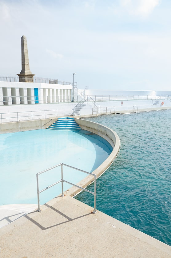 Scenic photo of the Penzance Lido.