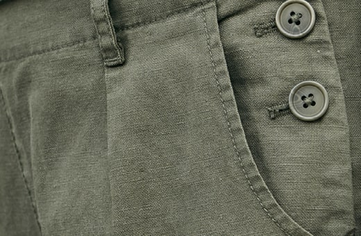 Close up of the pocket details on the Nanterrow trousers