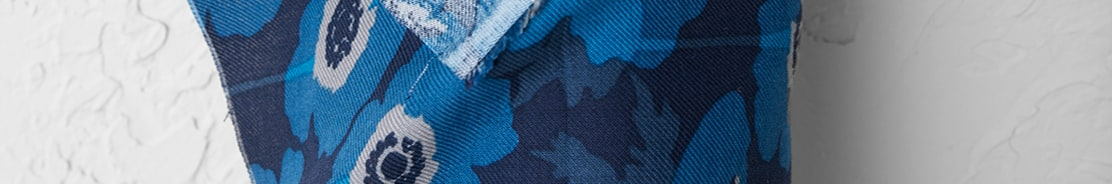 Close up of patterned fabric